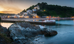 Sunset over Looe Harbour