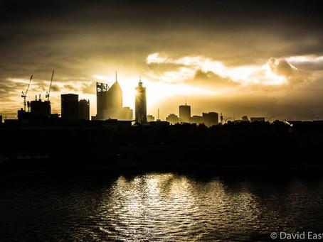Rainy walk around East Perth