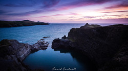 Wales, Abereiddy Blue Lagoon Sunset