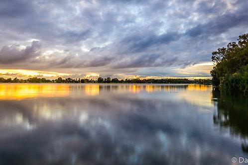 Sunset at the lake - WA
