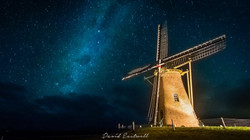 Starlight over the Lilly Windmill