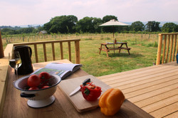 Outdoor food preparation area