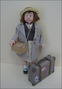 12th Scale Doll Evacuee ~ Young Girl