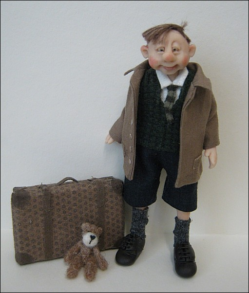 12th Scale Evacuee ~ Young Boy