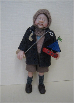 12th Scale Evacuee Doll ~  Young Boy