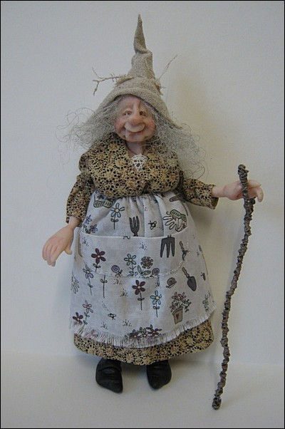 12th Scale Gardening Witch