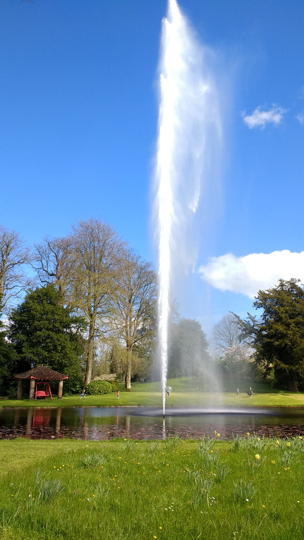 The enormous fountain at Forde Abbey