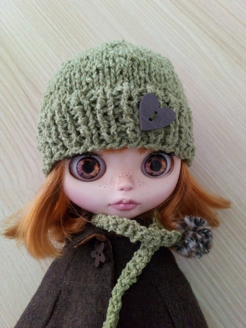 Green Boucle Hat and Scarf Set