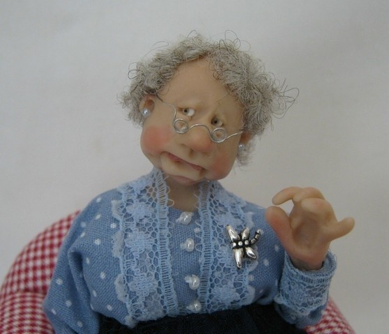 12th Scale Doll ~ Snotty Lady