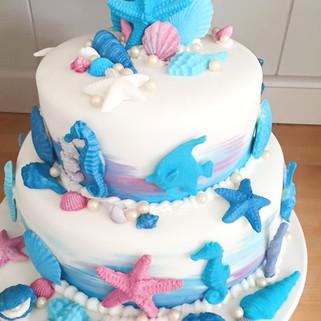 Under the Sea Theme Cake