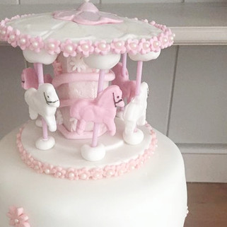 Baby Girl Carousel Cake