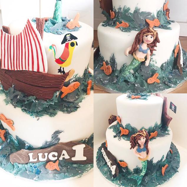Mermaids and Pirates Cake