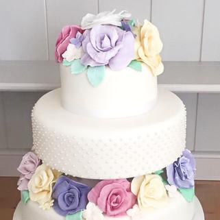 Sugar Flower Tiered Cake