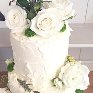 Elegant Fresh Flower Cake