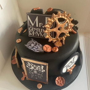 Steampunk cake for a 21st.