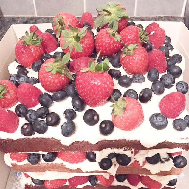 Berry & Chocolate Layer Cake