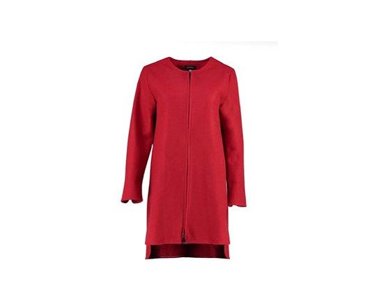 Red zipped coat