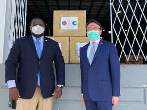 BEACON FOR CHANGE COORDINATES DISTRIBUTION OF 10,000 MASKS TO THE BAHAMIAN GOVERNMENT