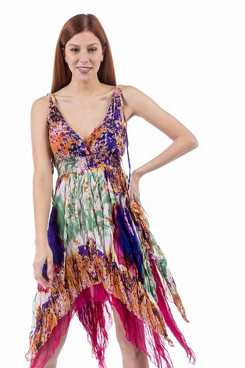 Ασύμμετρο εμπριμέ φόρεμα κρουαζέ