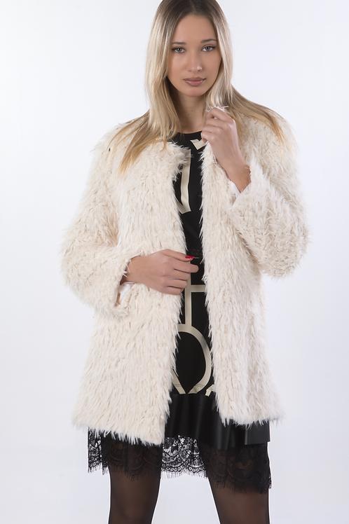 Μονόχρωμο γούνινο ημίπαλτο