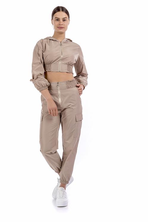 Ψηλόμεσο παντελόνι με λάστιχο σφηκοφωλιά