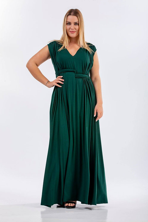 Maxi φόρεμα με ιδιαίτερο σχέδιο