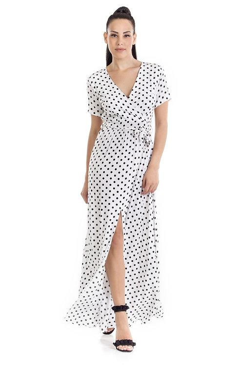 Φόρεμα Maxi Πουά