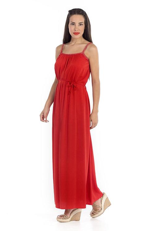 Φόρεμα Maxi με πλεξούδα στο μπούστο