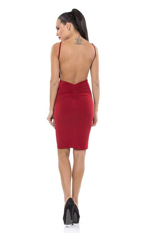 Φόρεμα τιραντάκι με ανοιχτή πλάτη
