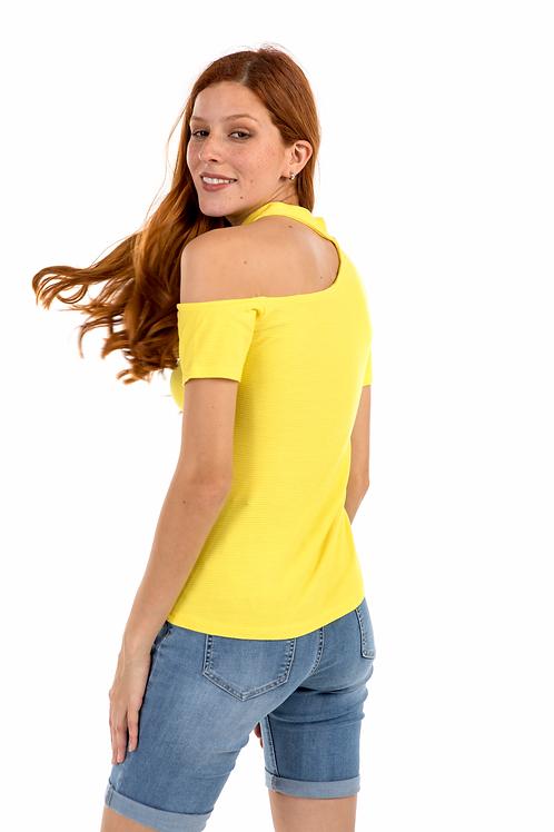 Ριπ μπλούζα με ανοιγμα στον ώμο