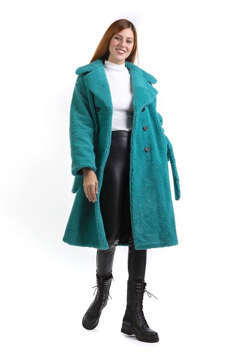 Μίντι borg παλτό