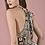 Thumbnail: Εμπριμέ φόρεμα με δέσιμο στο λαιμό