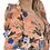 Thumbnail: Φλοράλ φόρεμα με φουσκωτούς ώμους και ανοιχτή πλάτη