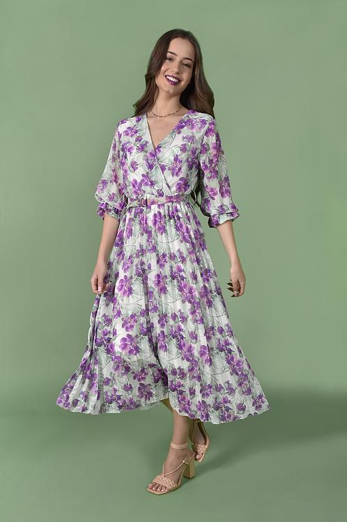 Midi lilac dress