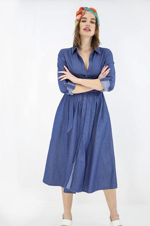 Midi jean φόρεμα