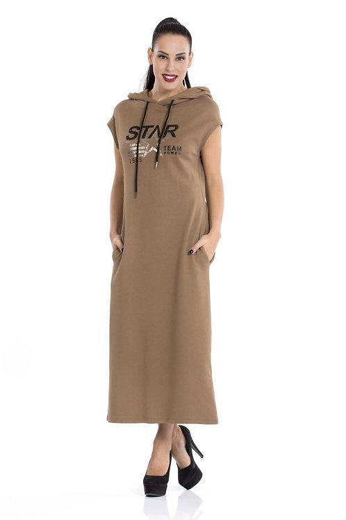 Φόρεμα φούτερ με τσέπες