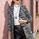 Thumbnail: Ασπρόμαυρο animal print παλτό