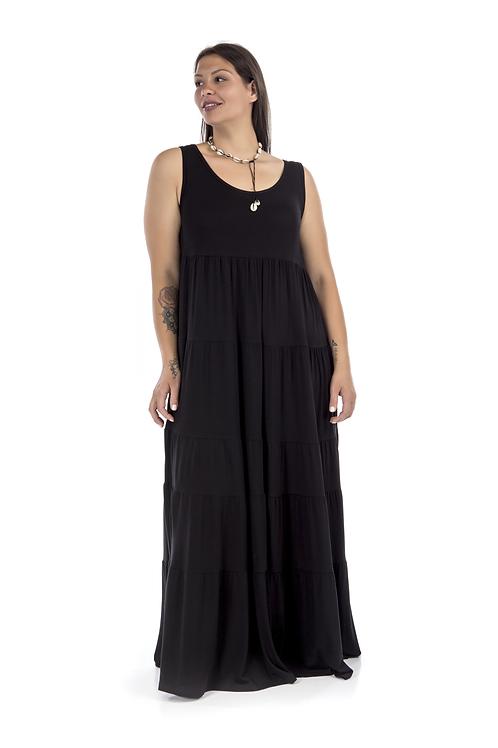 Μακρύ αμάνικο φόρεμα