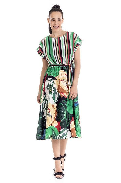 Φόρεμα Midi με λάστιχο στην μέση