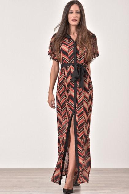 Μακρύ geometric φόρεμα