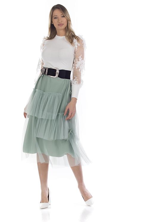 Τούλινη φούστα με ιδιαίτερες λεπτομέρειες