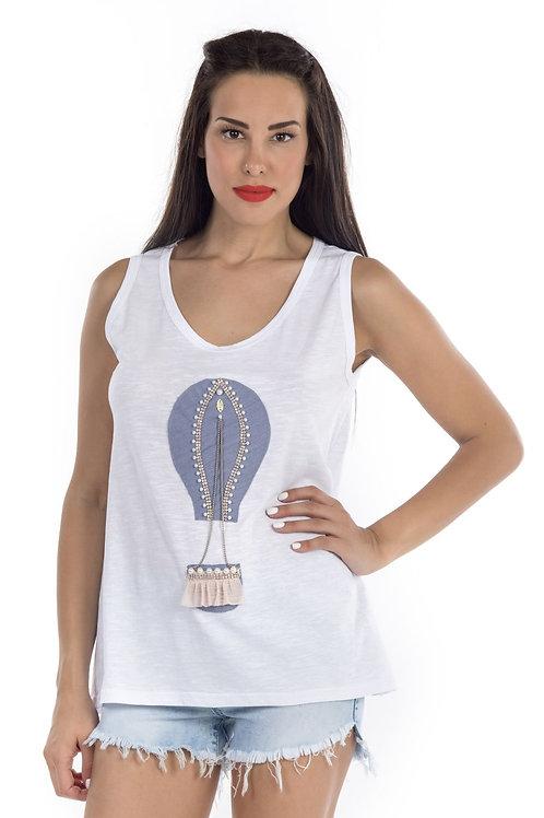 Μπλούζα με χειροποίητο αερόστατο