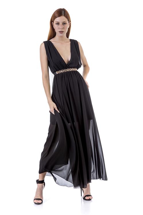"""Μαύρο φόρεμα με """"V"""""""