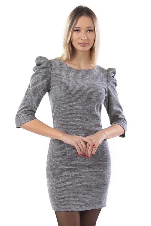 Φόρεμα τύπου πλεχτό με φουσκωτούς ώμους