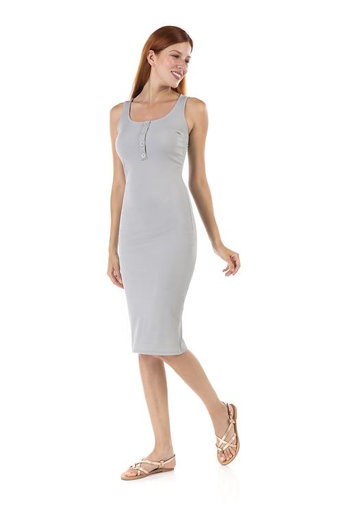 Ripped αμάνικο φόρεμα
