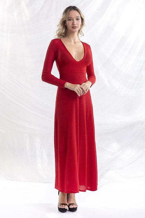 Μάξι φόρεμα με ανοιχτή την πλάτη