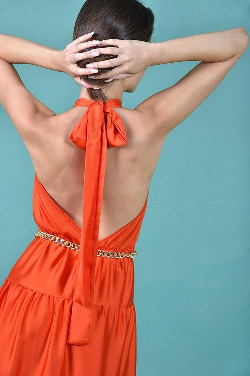 Maxi φόρεμα σατεν