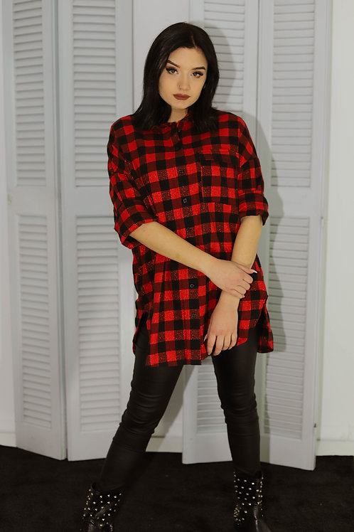 Κόκκινο καρό πουκάμισο