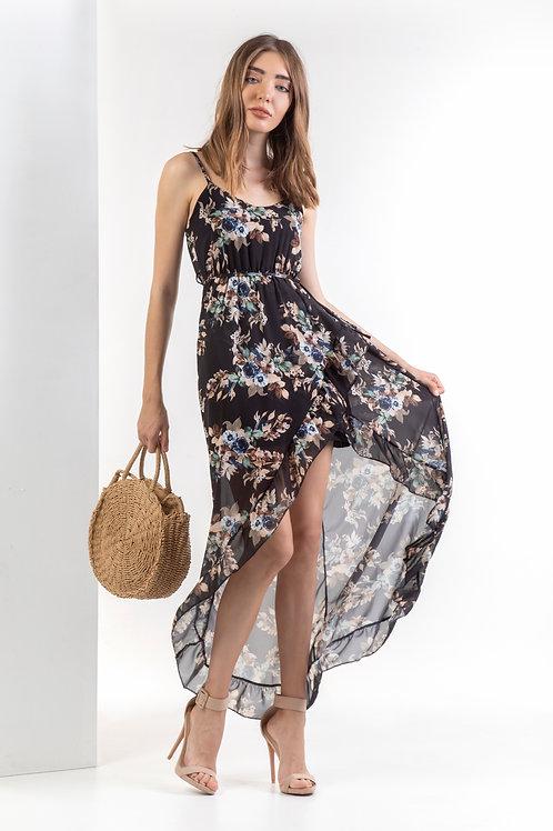 Ασύμμετρο φόρεμα φλοράλ