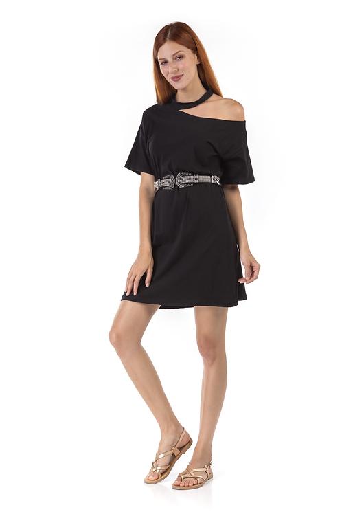 Μίνι φόρεμα με ιδιαίτερο κόψιμο στο λαιμό